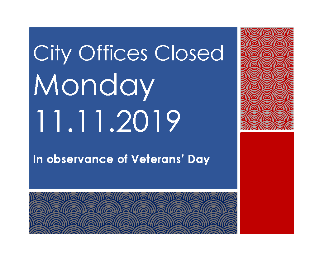 Offices Closed Sign Veterans Day